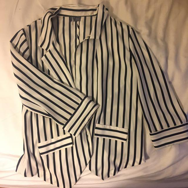 Striped women's blazer
