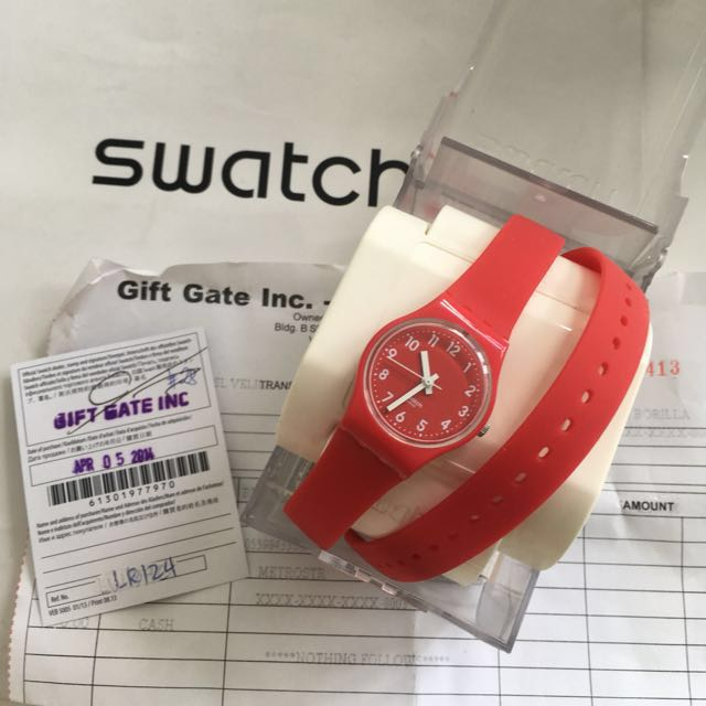 Swatch Ladies Watch Bitter Cranberry LR124