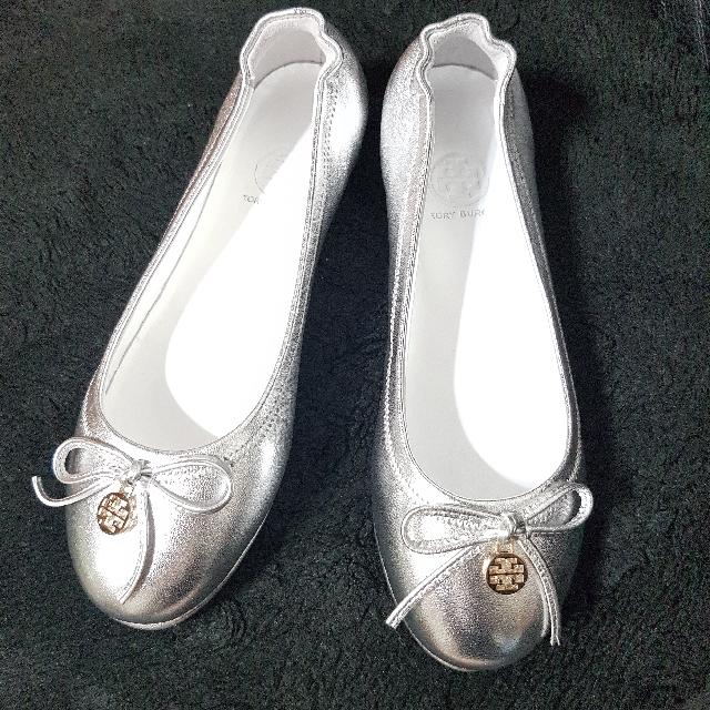 降!【全新含運】銀色T牌娃娃平底鞋 37號