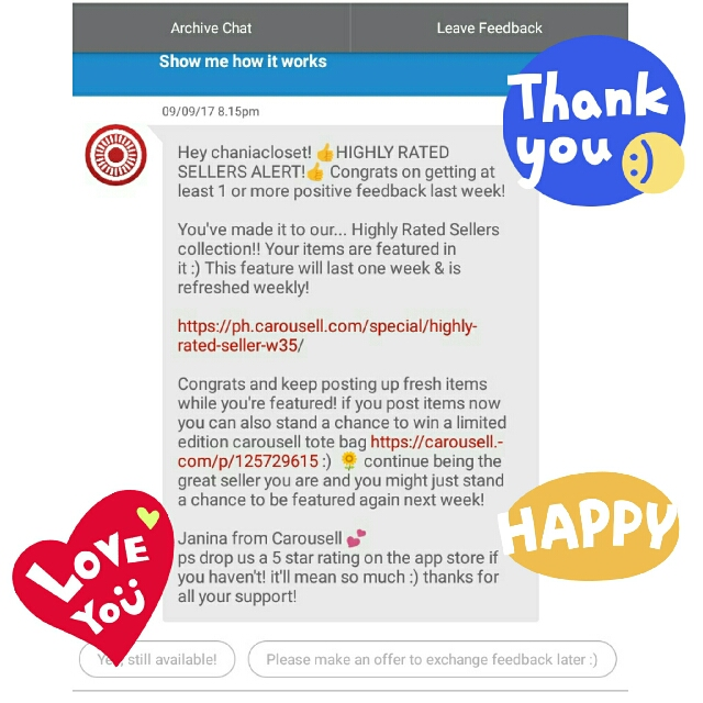 Thank You Carousell!!💖😘