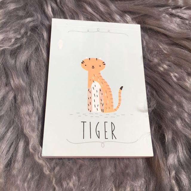 Tiger Kawaii Notebook