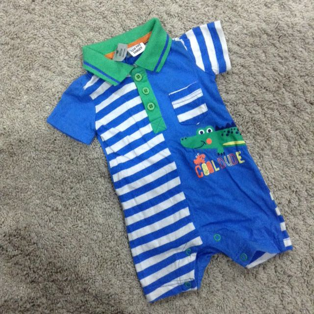 Tiny Little Wonder Collar Polo Baby Romper Jumper