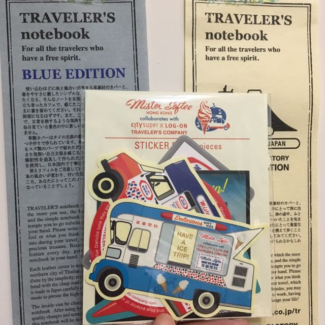 Traveler's Notebook 香港 富豪雪糕 限量 貼紙組