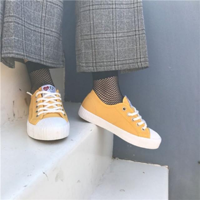 ulzzang超可愛黃色帆布鞋💓#交換最划算