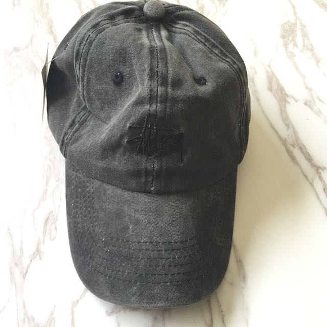 Unisex stussy limited edition denim grey baseball cap hat 1ec86f6041b