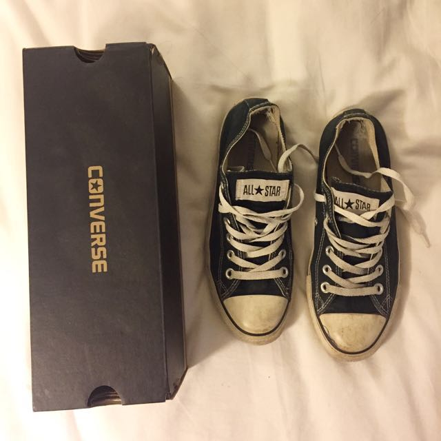 Used Black Low Top Converse