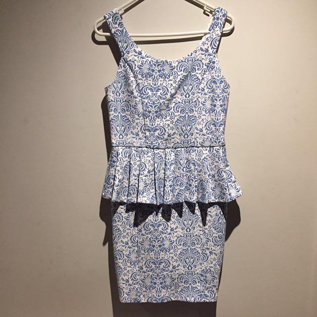 Valleygirl peplum dress