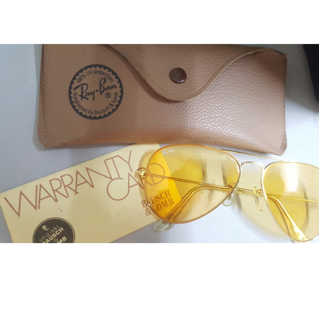 e6af08abef VINTAGE B L RAY BAN L9535 ARISTA ALL WEATHER AMBERMATIC AVIATOR ...