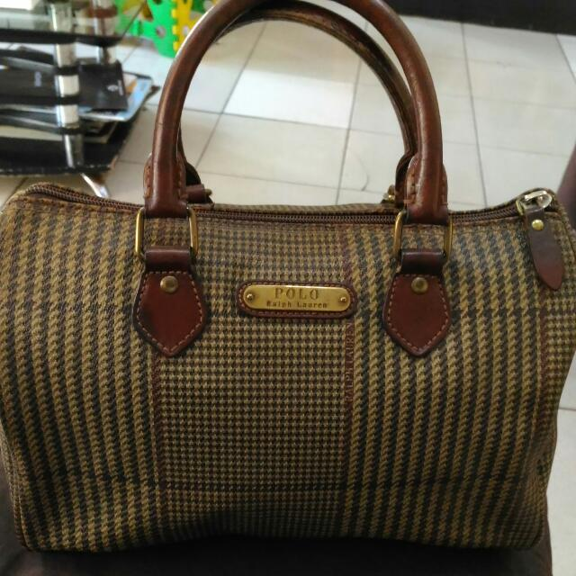 085885e882 czech vintage polo ralph lauren houndstooth speedy bag preloved womens fashion  bags wallets on carousell 63558