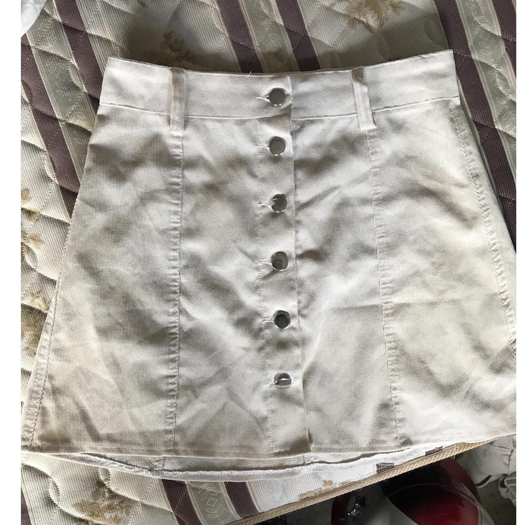 white/cream skirt