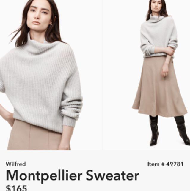 Wilfred Montpellier sweater- Aritzia