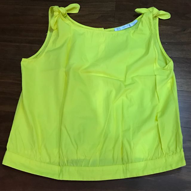 Yellow Crop Top (Zara)