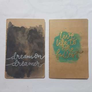 Blank Kraft Notebook with Calligraphy design