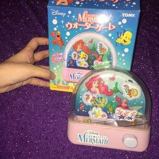 Tomy 小美人魚  the little mermaid 水中套圈圈 絕版 遊戲機