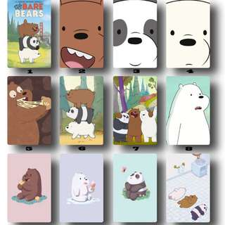 We Bare Bears Ezlink cards