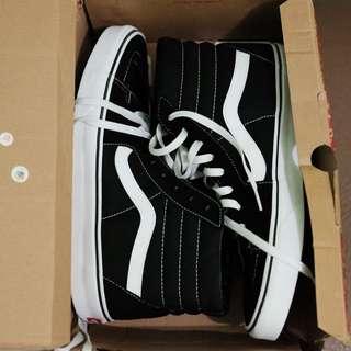 Vans Sk8Hi Black White Classic size 12