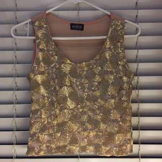 Gold Sleeveless Top