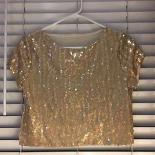 Gold Sequined Top