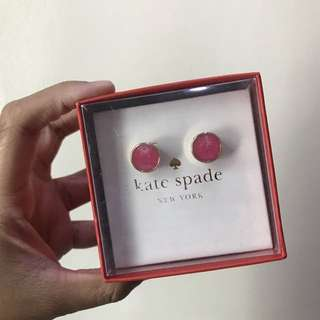 Kate Spade Pink Circle Earrings