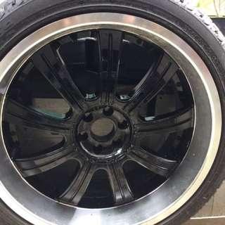 22 inch rims & tyers