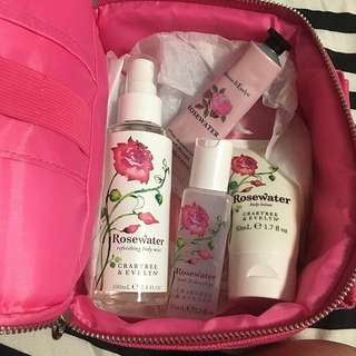 Crabtree and Evelyn Rosewater Set