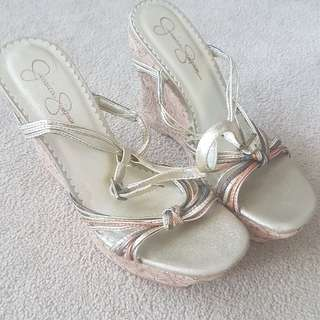 Jessica Simpson Gold Wedges 7.5