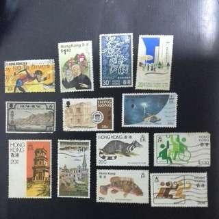 香港八,九十年代特色紀念郵票