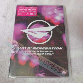 [CRAZY DEAL 70% OFF FROM ORIGINAL PRICE][READY STOCK]GIRLS GENERATION SNSD JAPAN 2ND TOUR GIRLS & PEACE DVD(NO POSTER) SEALED ! NEW!OFFICIAL ORIGINAL FROM JAPAN (PRICE NOT INCLUDE POSTAGE)(PLEASE READ DETAILS FOR MORE INFO)