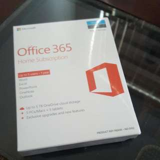 1 year Office 365 subscription. Brand new in wrapping