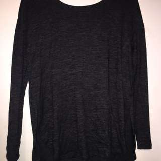 Garage Black Long Sleeve With Slit