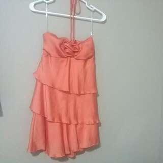 Strapless /Tie Up Dress Size Small