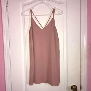 Topshop blush shift dress