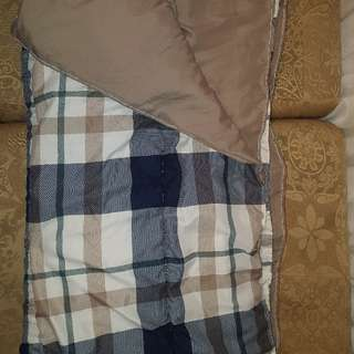 plaid comforter double sided