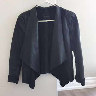 Dynamite black leather blazer/jacket XS
