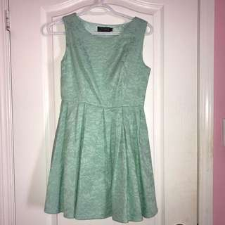Turquoise/Mint skater dress