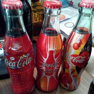 可口可樂 2003年  120週年 玻璃瓶 192ml