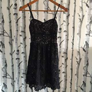 Lace/Nude Jean Machine Dress (XS)
