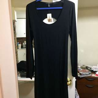 NWT black maxi dress with keyhole back