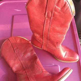 Jessica Simpson red boots, Size 6 1/2