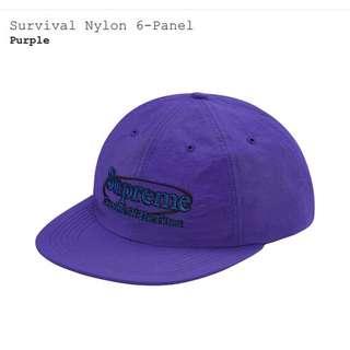Supreme survival nylon 6-panel 帽子