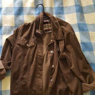 Brown Courderoy Jacket