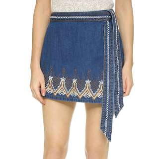 Size 2 Free people denim skirt