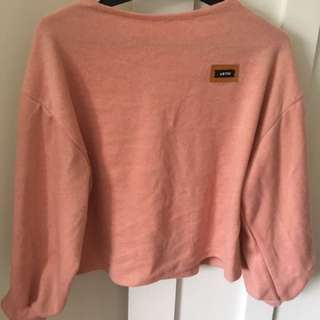 Boatneck pink jumper - size small