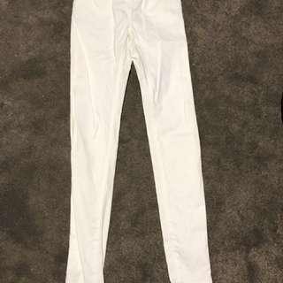 Bershka White Jeans