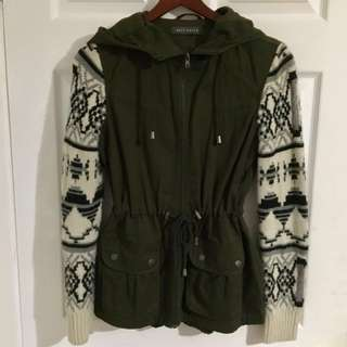 Womens Olive Green Fall Jacket