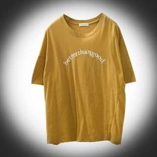 芥黃 寬鬆 上衣