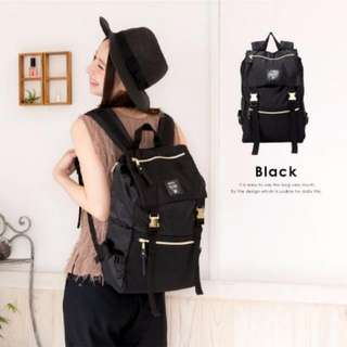 Anello Gold Buckle Backpack