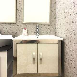 時尚不銹鋼浴櫃