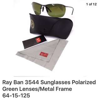 RAY BAN SUNGLASSES POLARIZED GREEN LENSES ORIG PRICE 250 $ Made in Italy Now $99 only