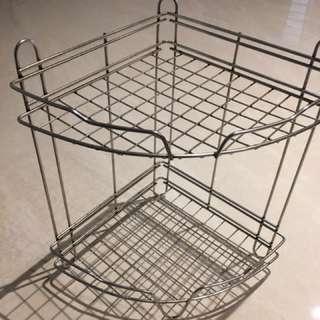 Bathroom corner stainless steel rack